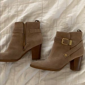 Tan Franco sarto booties - size 8